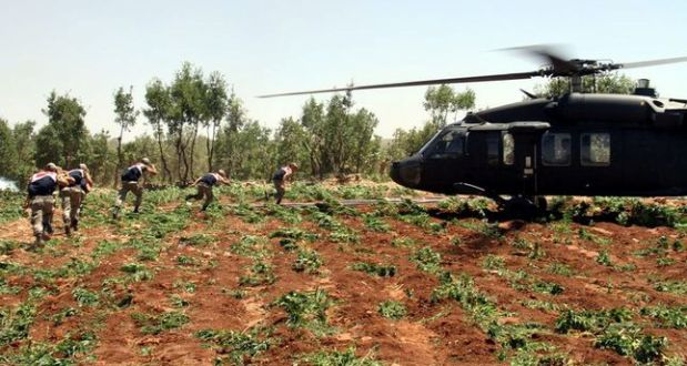 TURKISH TROOPS SEIZE 10 TONS OF DRUG